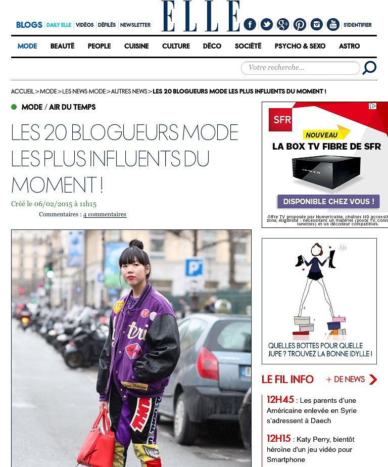 ELLE (web) 05/02/2015: Picture of Susie Lau and Chiara Ferragni