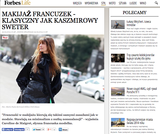 FORBES Poland (web) 25th/09/2014