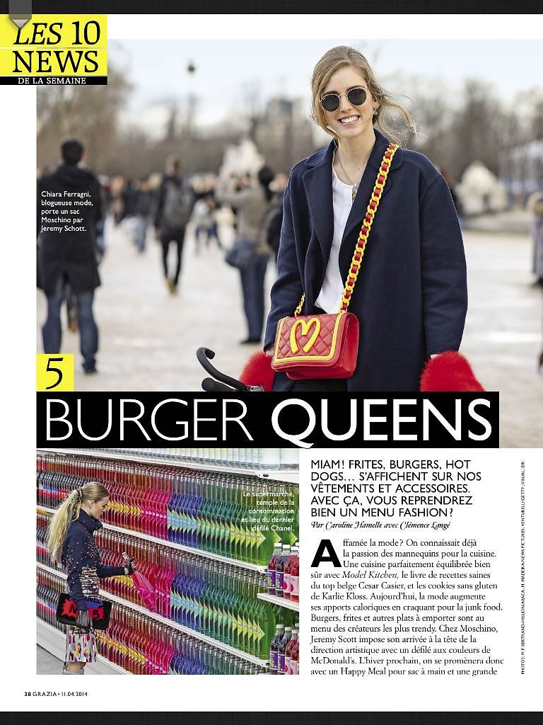 GRAZIA France (Print) 11th/04/2014 : Picture of Chiara Ferragni