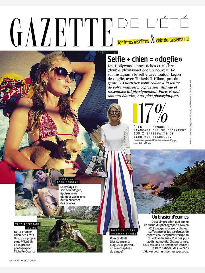 GRAZIA France (print) 18th/07/2015: picture of Sofie Valkiers (center)
