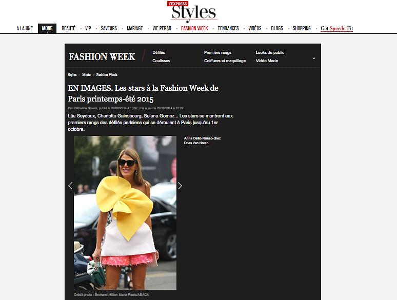 L'EXPRESS STYLE (web) 02nd/10/2014