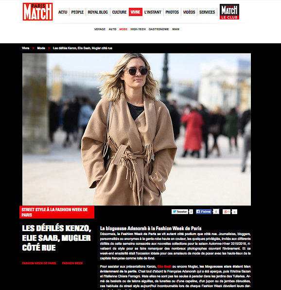 PARIS MATCH (web) 09th/03/2015: 21 pictures
