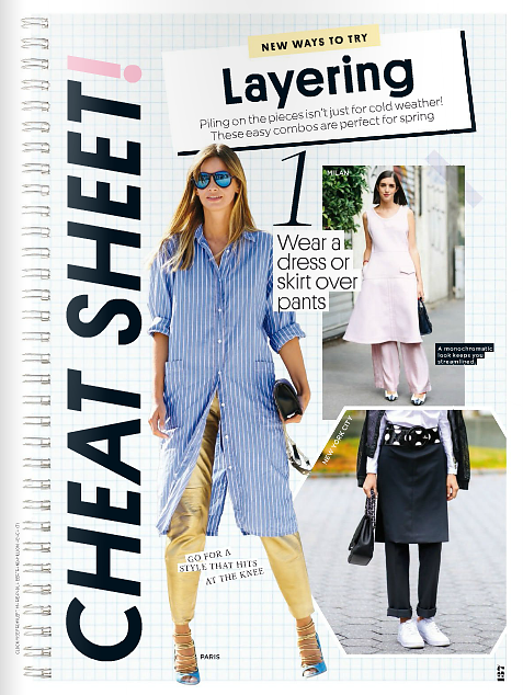 PEOPLE StyleWatch (print) April 2016. 3 street style pics.