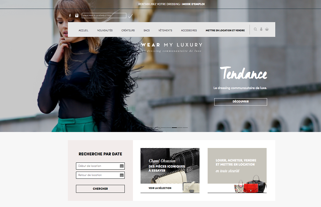 WEAR MY LUXURY, homepage picture, March 2016