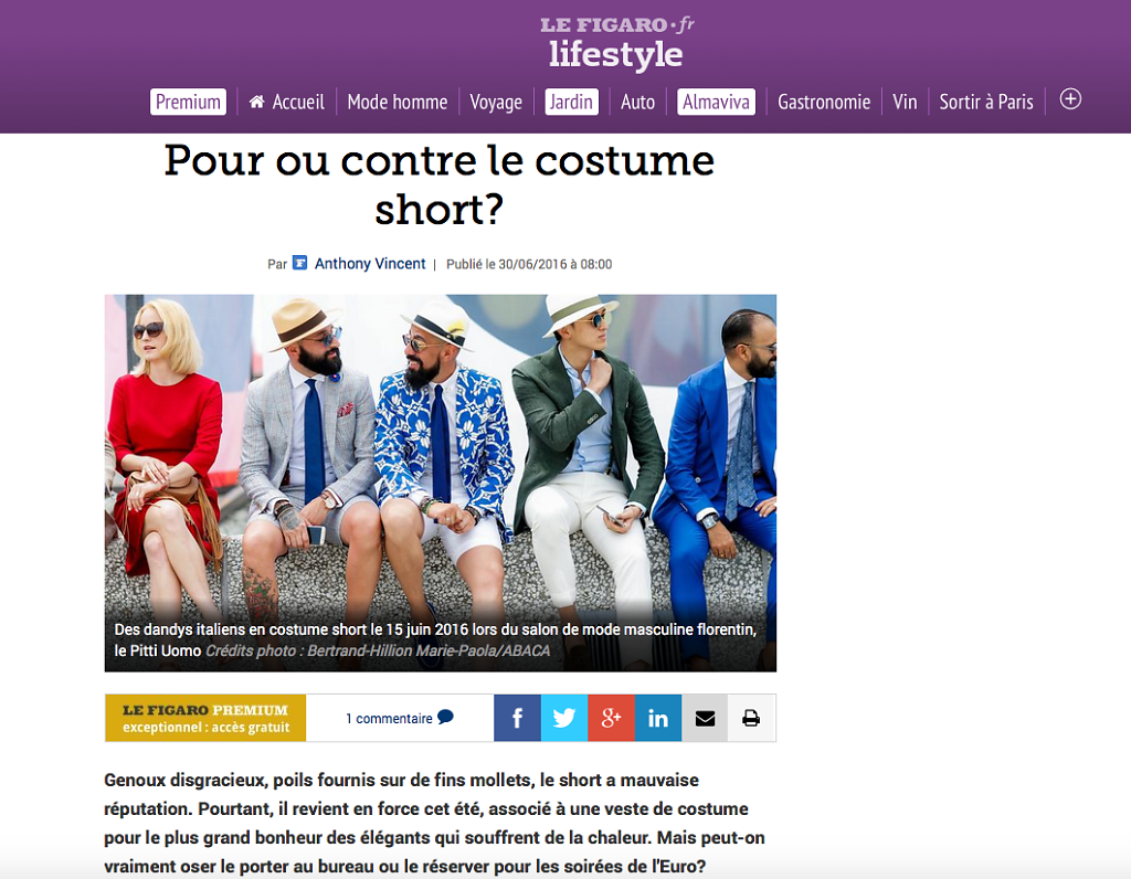 LE FIGARO LIFESTYLE (Web) 30th/06/2016