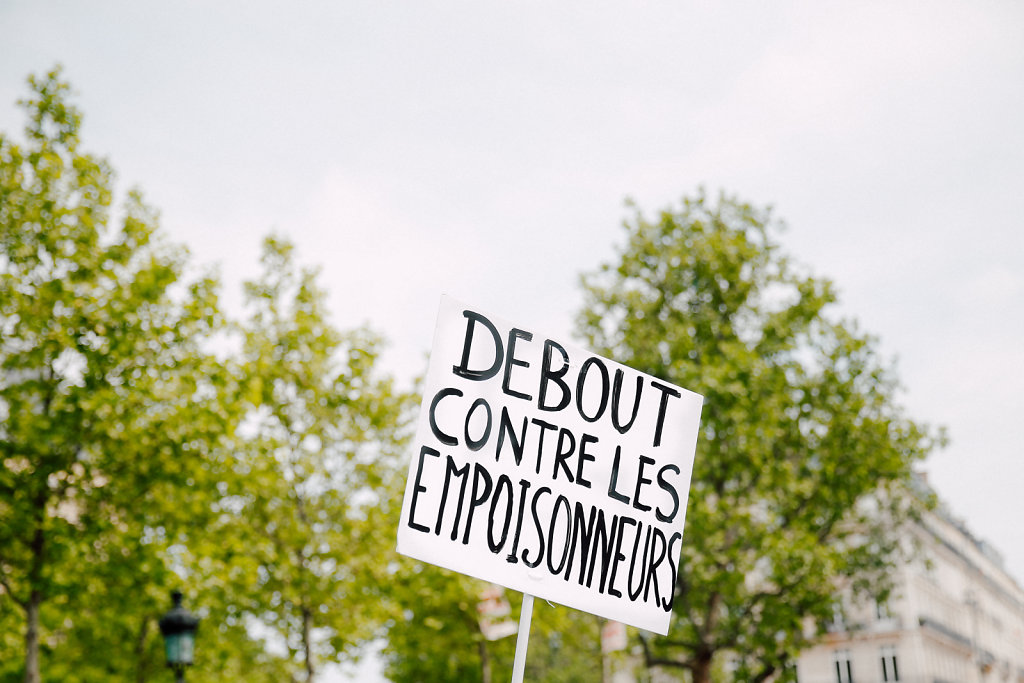 Demonstration against pesticides - Paris March 2016