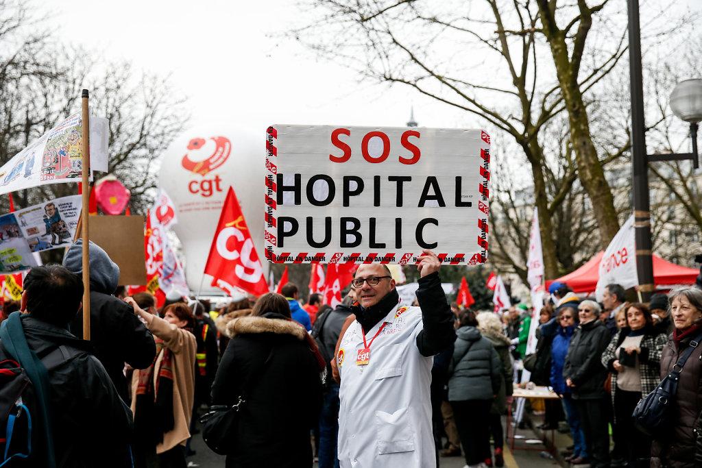 Manifestation des cheminots et fonctionnaires 22 mars 2018