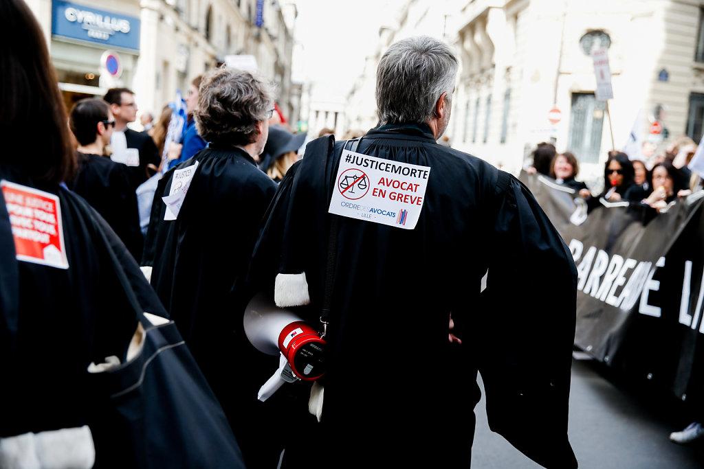 Manifestation des Avocats, Paris (2018)