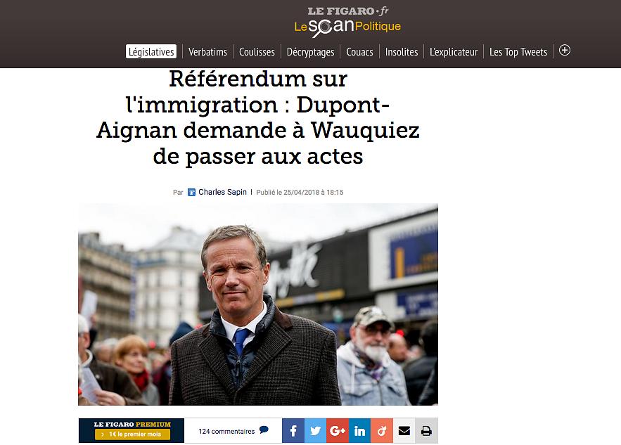 LE FIGARO Politique (web) - April 2018
