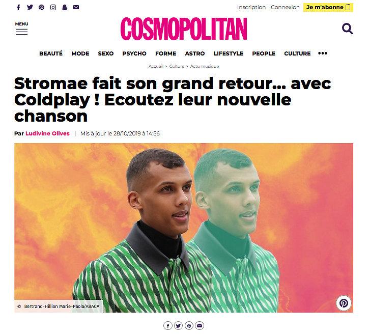 COSMOPOLITAN (Web) 28th/10/2019
